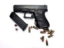 λευκό ανασκόπησης όπλων Στοκ φωτογραφίες με δικαίωμα ελεύθερης χρήσης