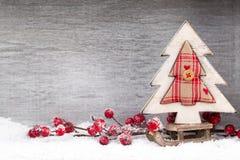 λευκό απομόνωσης ντεκόρ Χριστουγέννων χαιρετισμός Χριστουγέννων καρτών Χριστούγεννα συμβόλων στοκ εικόνες