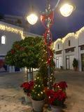 λευκό απομόνωσης ντεκόρ Χριστουγέννων στοκ εικόνα