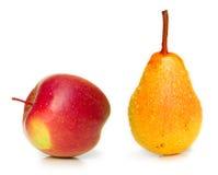 λευκό αχλαδιών μήλων Στοκ Εικόνες