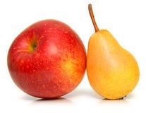 λευκό αχλαδιών μήλων Στοκ φωτογραφίες με δικαίωμα ελεύθερης χρήσης