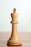 λευκό βασιλιάδων σκακι& Στοκ Εικόνες