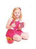 λευκό γάλακτος κοριτσ&io Στοκ Φωτογραφίες