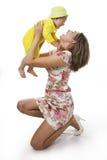 λευκό γιων μητέρων Στοκ Φωτογραφίες