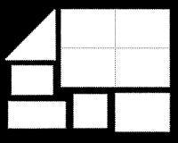 λευκό γραμματοσήμων στοκ εικόνες