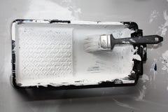 λευκό δίσκων χρωμάτων Στοκ εικόνα με δικαίωμα ελεύθερης χρήσης