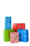 λευκό δώρων Χριστουγέννω& Στοκ φωτογραφία με δικαίωμα ελεύθερης χρήσης