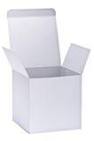 λευκό εγγράφου κιβωτίων Στοκ Φωτογραφία