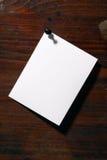 λευκό εγγράφου Στοκ εικόνα με δικαίωμα ελεύθερης χρήσης
