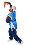 λευκό εκτελεστών breakdance ανα& Στοκ Εικόνες