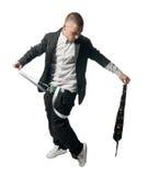 λευκό εκτελεστών breakdance ανα& Στοκ φωτογραφία με δικαίωμα ελεύθερης χρήσης