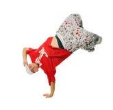 λευκό εκτελεστών breakdance ανα& στοκ εικόνα