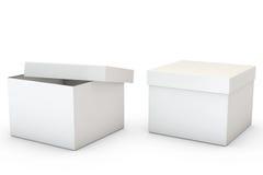 λευκό εμπορευματοκιβωτίων Στοκ Φωτογραφίες