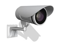 λευκό επιτήρησης φωτογραφικών μηχανών ανασκόπησης Στοκ Εικόνες
