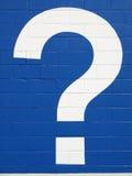 λευκό ερώτησης σημαδιών στοκ εικόνα