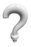 λευκό ερώτησης 2 βολβών ελεύθερη απεικόνιση δικαιώματος