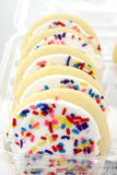 λευκό ζάχαρης τήξης μπισκότων Στοκ Εικόνες