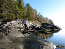 λευκό θάλασσας ακτών Στοκ φωτογραφίες με δικαίωμα ελεύθερης χρήσης