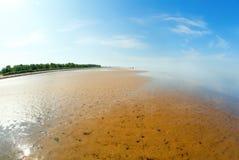 λευκό θάλασσας ακτών Στοκ Εικόνα