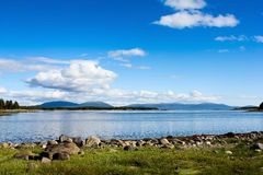 λευκό θάλασσας ακτών Στοκ Εικόνες