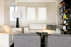 λευκό καθιστικών Στοκ φωτογραφία με δικαίωμα ελεύθερης χρήσης