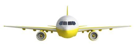 Λευκό και yelow τρισδιάστατη απόδοση αεροπλάνων στο άσπρο υπόβαθρο Στοκ φωτογραφία με δικαίωμα ελεύθερης χρήσης