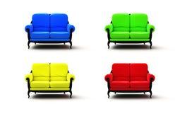λευκό καναπέδων ανασκόπη&sig Στοκ φωτογραφία με δικαίωμα ελεύθερης χρήσης