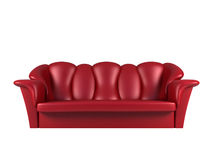 λευκό καναπέδων δέρματος Στοκ Εικόνες