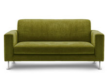 λευκό καναπέδων επίπλων ανασκόπησης στοκ εικόνα
