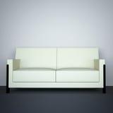 λευκό καναπέδων Στοκ Εικόνες