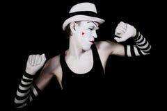 λευκό καπέλων χορού mime Στοκ εικόνες με δικαίωμα ελεύθερης χρήσης