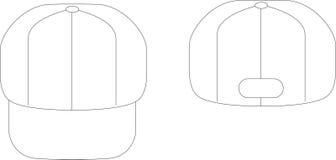 λευκό καπέλων διανυσματική απεικόνιση