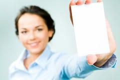 λευκό καρτών Στοκ Εικόνα