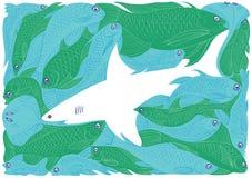 λευκό καρχαριών Στοκ εικόνα με δικαίωμα ελεύθερης χρήσης