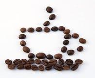 λευκό καφέ φασολιών ανασκόπησης Στοκ Εικόνα