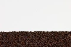 λευκό καφέ φασολιών ανασ& Τοπ άποψη με το διάστημα για το τ σας στοκ φωτογραφία με δικαίωμα ελεύθερης χρήσης