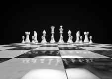λευκό κομματιών σκακιού Στοκ Εικόνες