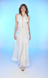λευκό κοριτσιών φορεμάτ&omega Στοκ Εικόνα