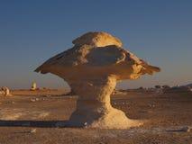 λευκό μανιταριών ασβεστόλιθων της Αιγύπτου ερήμων Στοκ φωτογραφία με δικαίωμα ελεύθερης χρήσης