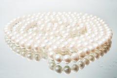 λευκό μαργαριταριών περιδεραίων Στοκ Εικόνες