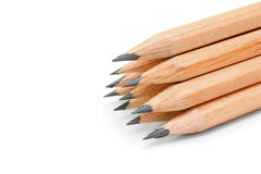 λευκό μολυβιών ανασκόπησης Στοκ εικόνες με δικαίωμα ελεύθερης χρήσης