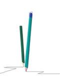 λευκό μολυβιών ανασκόπη&sigm Στοκ φωτογραφία με δικαίωμα ελεύθερης χρήσης