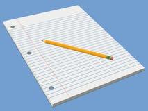 λευκό μολυβιών μαξιλαρι Στοκ Φωτογραφία