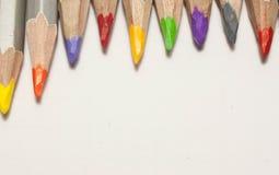 λευκό μολυβιών χρώματος ανασκόπησης κλείστε επάνω στοκ φωτογραφίες με δικαίωμα ελεύθερης χρήσης