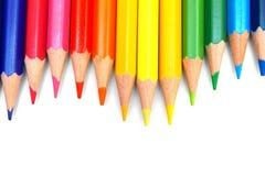 λευκό μολυβιών χρώματος ανασκόπησης Στοκ εικόνες με δικαίωμα ελεύθερης χρήσης