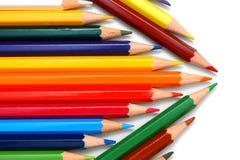 λευκό μολυβιών χρώματος ανασκόπησης Στοκ Φωτογραφίες
