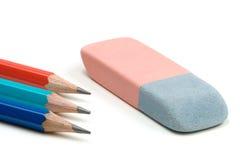 λευκό μολυβιών Στοκ εικόνα με δικαίωμα ελεύθερης χρήσης