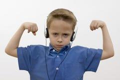 λευκό μουσικής αγοριών στοκ φωτογραφίες