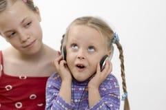 λευκό μουσικής κοριτσ&iot Στοκ Εικόνα