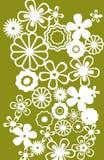 Λευκό λουλουδιών σύστασης Στοκ Φωτογραφίες
